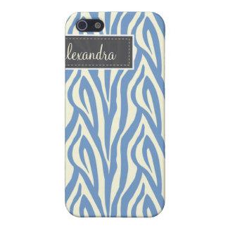 4 Zebra Pern (Singrün) iPhone 5 Cover
