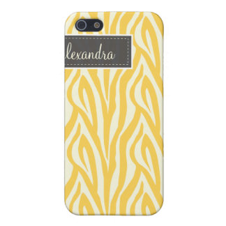 4 Zebra Pern (Zitrone) iPhone 5 Case