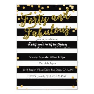 4o und fabelhafte erwachsene Geburtstags-Einladung 12,7 X 17,8 Cm Einladungskarte
