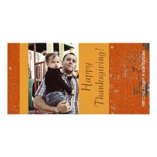 4x8 orange u. gelbe Grunge-Erntedank FOTO Karte