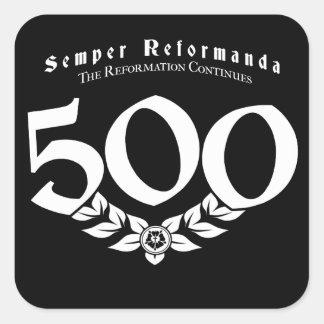500th Jahrestags-Verbesserungs-Aufkleber - 6 Satz Quadratischer Aufkleber