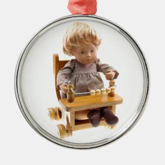 501_Baby_Honey_Blonde_Sandy_0001 Rundes Silberfarbenes Ornament