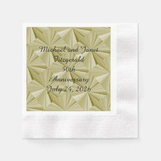 50. Aniversary Golddiamant-Papierservietten durch Papierservietten