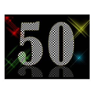 50 blenden Sie Postkarte