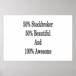 50 Börsenmakler 50 schön und 100 fantastisch Poster