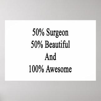 50 Chirurg 50 schön und 100 fantastisch Poster