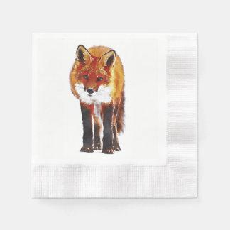 50 Fuchspapierservietten, Waldland, das Leinen Papierserviette