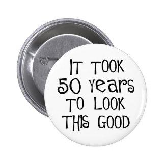 50. Geburtstag, 50 Jahre, zum dieses zu schauen gu Anstecknadel