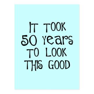 50. Geburtstag, 50 Jahre, zum dieses zu schauen Postkarte