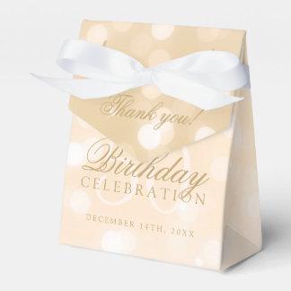 50. Geburtstag danken Ihnen GoldBokeh Geschenkschachtel