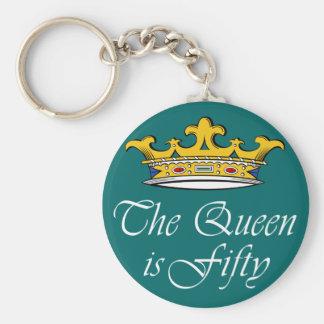 50. Geburtstag die Königin ist 50! Schlüsselanhänger