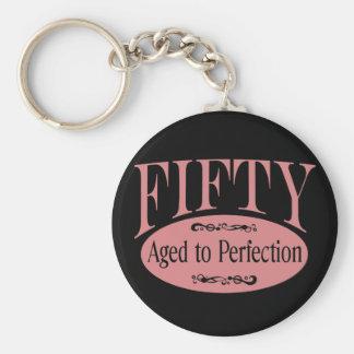 50. Geburtstag, fünfzig - gealtert zur Perfektion Schlüsselanhänger