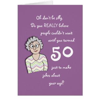 Lustiger 50 Geburtstag Grußkarten, Lustiger 50 Geburtstag Grußkarten Designs und Einladungskarten