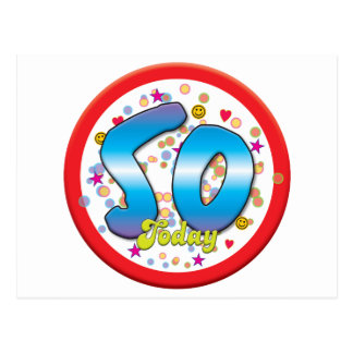 50. Geburtstag heute Postkarte