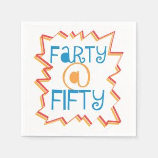 50. Geburtstag lustiges Farty bei fünfzig Papierserviette