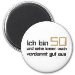 50. Geburtstag Runder Magnet 5,1 Cm