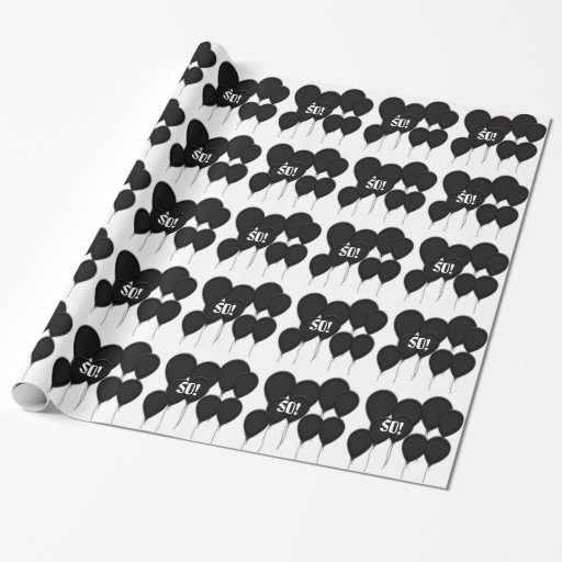 50 geburtstag schwarzes ballone geschenk papier geschenkpapier zazzle. Black Bedroom Furniture Sets. Home Design Ideas