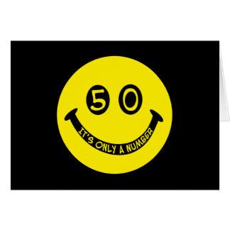 50. Geburtstag Smiley, ist es nur eine Zahl! Karte
