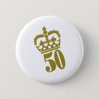 50. Geburtstag - Zahl - fünfzig Runder Button 5,1 Cm