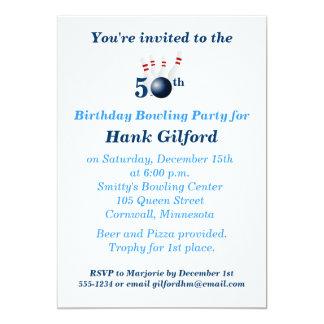 50. Geburtstags-Bowlings-Party Einladung