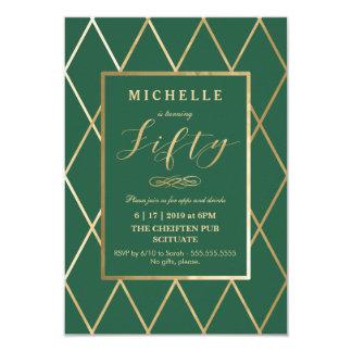 50. Geburtstags-Einladung - Gold, elegant, modisch Karte