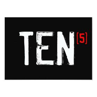 50. Geburtstags-Einladung - zehn (Zeiten 5!) 12,7 X 17,8 Cm Einladungskarte