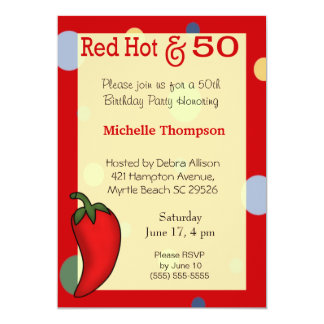 50. Geburtstags-Einladungen