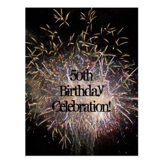 50. Geburtstags-Einladungs-Postkarte (fertigen Postkarten
