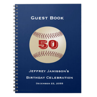 50. Geburtstags-Feier-Gast-Buch, Baseball Notizblock