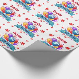 50. Geburtstags-festliche bunte Ballone C01DZ Geschenkpapier