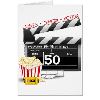 50. Geburtstags-Film-Thema Karte