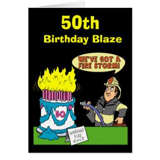 50. Geburtstags-Flammen-Karte Karte