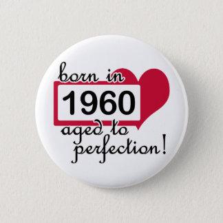 50. Geburtstags-Geschenke, 1960 Runder Button 5,7 Cm
