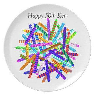 50. Geburtstags-Geschenke Teller