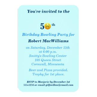 50. Geburtstags-glückliche Gesichts-Party 8,9 X 12,7 Cm Einladungskarte