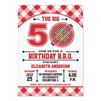 50. Geburtstags-Grill-Einladung 12,7 X 17,8 Cm Einladungskarte