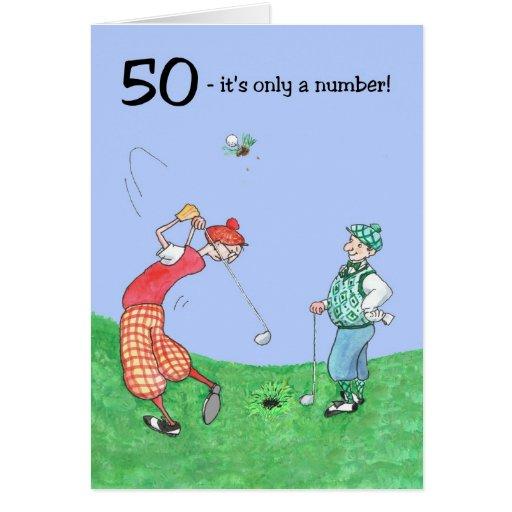 50. Geburtstags-Karte für einen Golfspieler