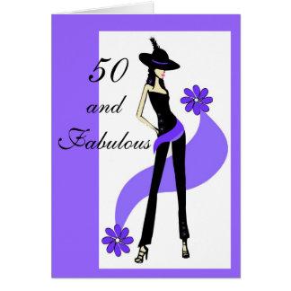 50. Geburtstags-Karte für Frauen Karte