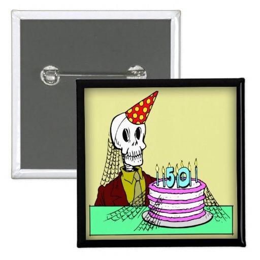 50. Geburtstags-Knopf Button