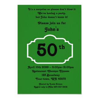 50., Geburtstags Mann, Party Mann, Irgendein Karte