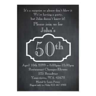 50., Geburtstags-Mann, Party-Mann, irgendein Karte