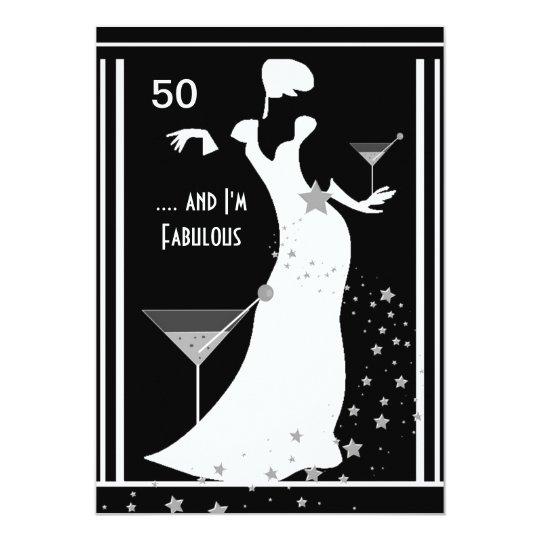50 geburtstags party diva kunst deko schwarz wei. Black Bedroom Furniture Sets. Home Design Ideas