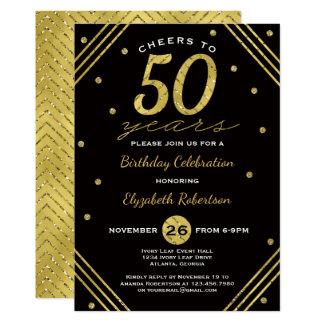 50. Geburtstags-Party Einladung, Beifall, Karte