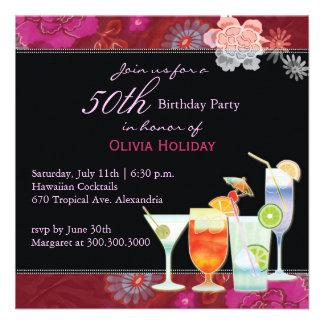 50. Geburtstags-Party Einladung: Tropische