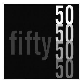 50. Geburtstags-Party Einladungen