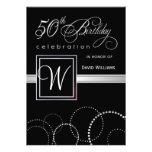 50. Geburtstags-Party Einladungen - silbernes