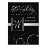 50. Geburtstags-Party Einladungen - silbernes 12,7 X 17,8 Cm Einladungskarte