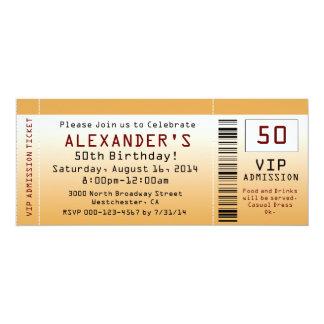 50. Geburtstags-Party Einladungs-goldene Karte Einladungskarte