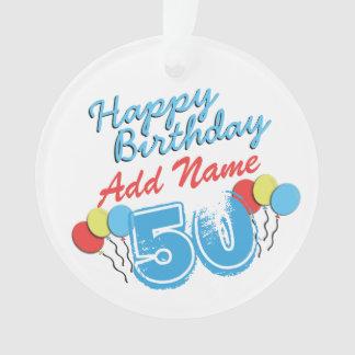 50. Geburtstags-personalisierte Ornament