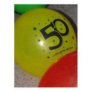 50. Geburtstags-Postkarte
